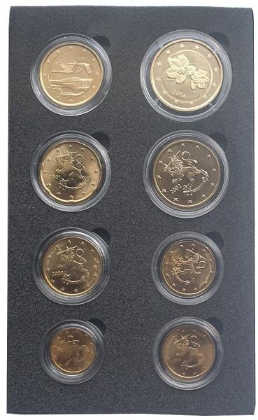 Finnland Kursmünzensatz 3,88 Euro vergoldet in Münzkapseln