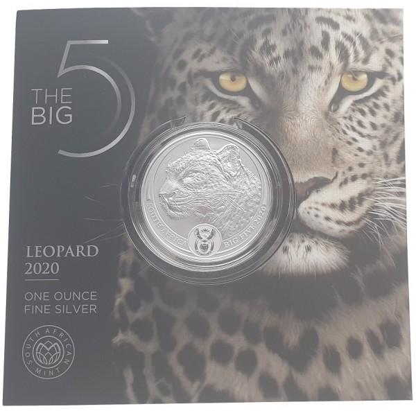 Süd Afrika 1 Oz Silber Leopard 2020 Big Five Blisterkarte nur 15.000 Stück !