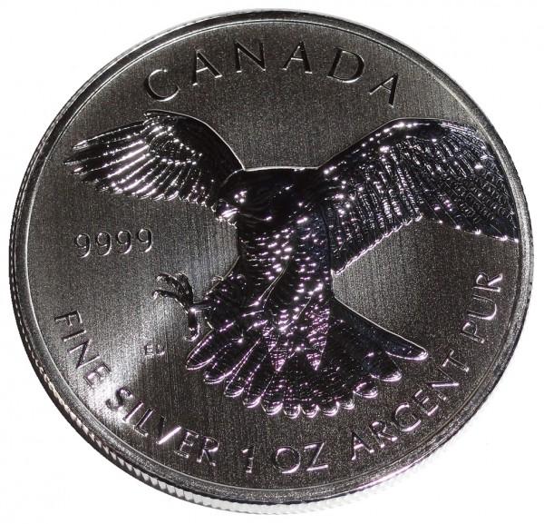 Canada-1-Oz-Silber-Wanderfalke-2014