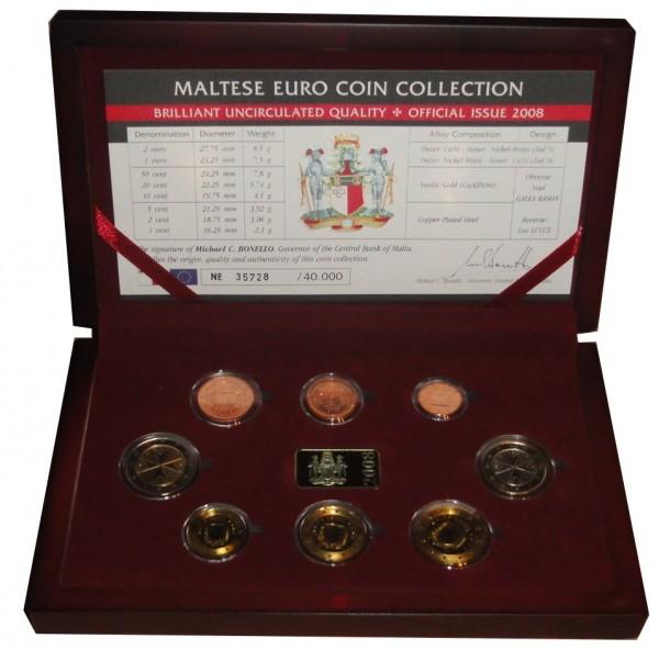 Malta 388 Euro Kursmünzensatz 2008 Bu Brilliant Unzirkuliert Jeton