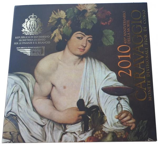 KMS San Marino 2010 mit 5 Euro Silbermünze 400. Todestag von Michelangelo Caravaggio