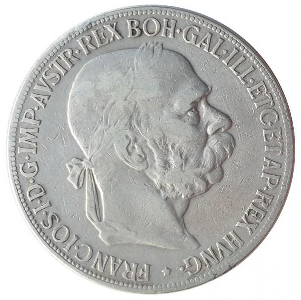 Österreich Ungarn 5 Kronen Silber 1900 - Kaiser Franz Joseph I. Habsburger Dynastie