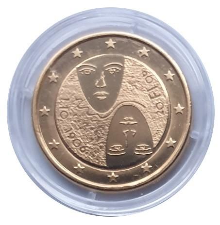 2 Euro Finnland 2006 Gleiches Wahlrecht Bankfrisch vergoldet in Münzkapsel