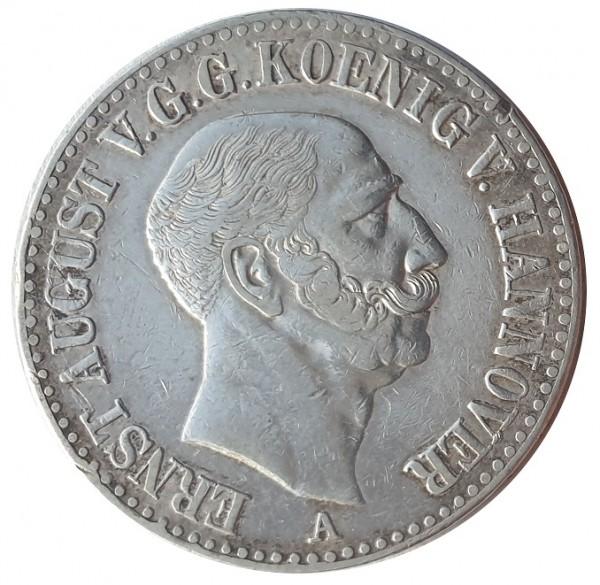 Königreich Hannover 1 Thaler Silber Ernst August I. 1846 A