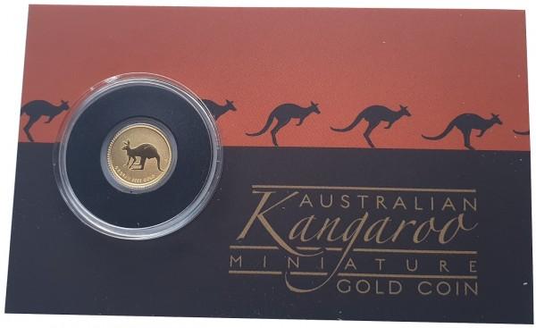 Mini Roo Goldmünze 0,5 gr Gold Känguru 2019 Australien im Blister
