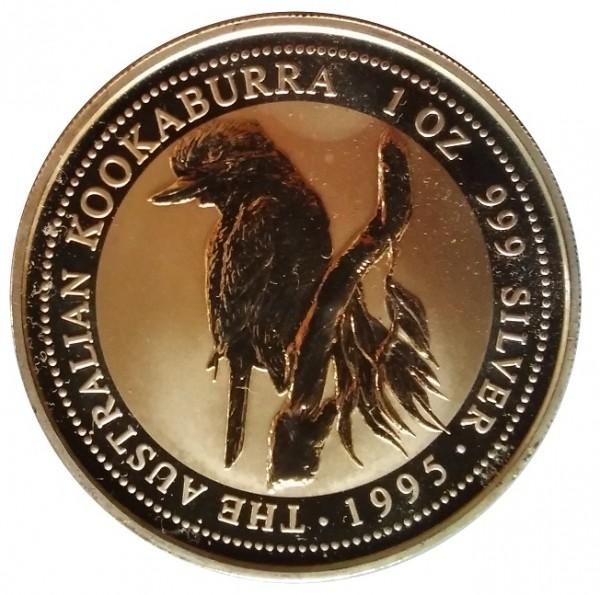 Australien 1 Oz Silber Kookaburra 1995 Silber - Anlagemünze