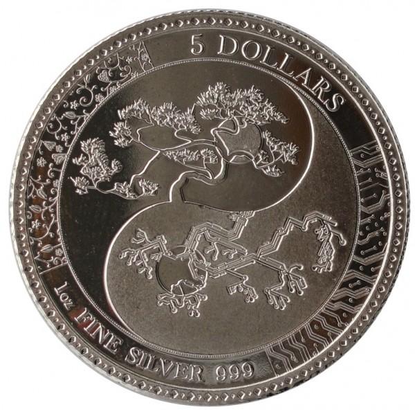 Tokelau 1 Oz Silber EQUILIBRIUM 2018 Prooflike