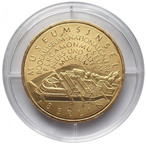BRD: 10 Euro Silber Gedenkmünze Museumsinsel Berlin 2002 vergoldet