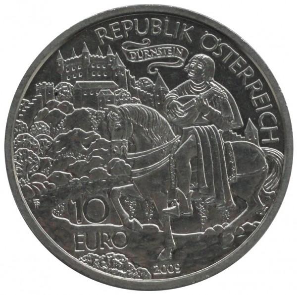 Österreich 10 Euro Silbermünze Richard Löwenherz 2009 Stempelglanz