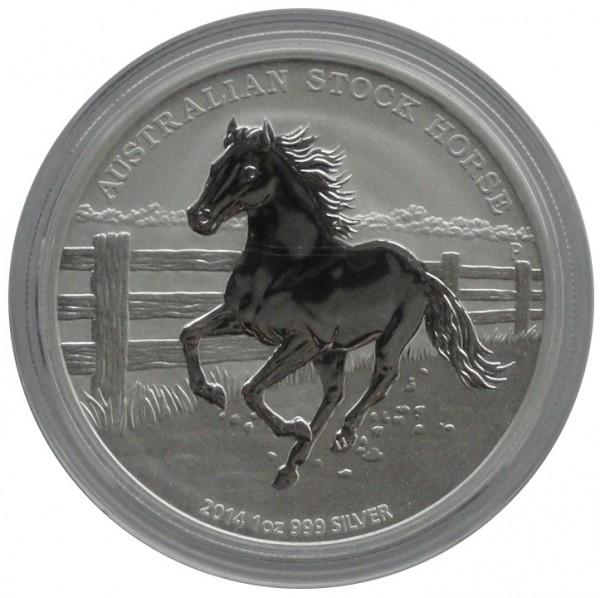 Australien 1 Oz Silber Stock Horse Pferd 2014 mit Zertifikat