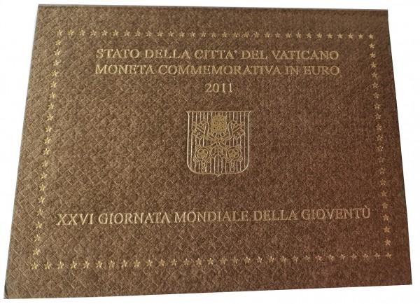 Vatikan 2 Euro Gedenkmünze Weltjugendtag in Madrid 2011 im Blister
