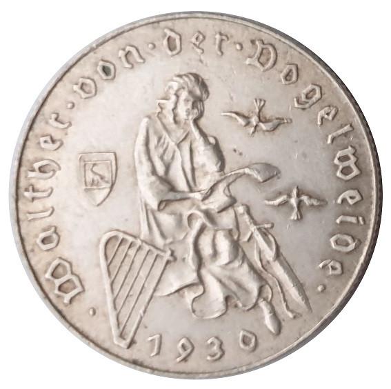 2 Schilling Silbermünze 1928 - 1937 aus Österreich
