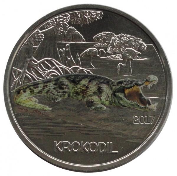 Österreich 3 Euro Tier Taler Krokodil 2017 mit Flyer