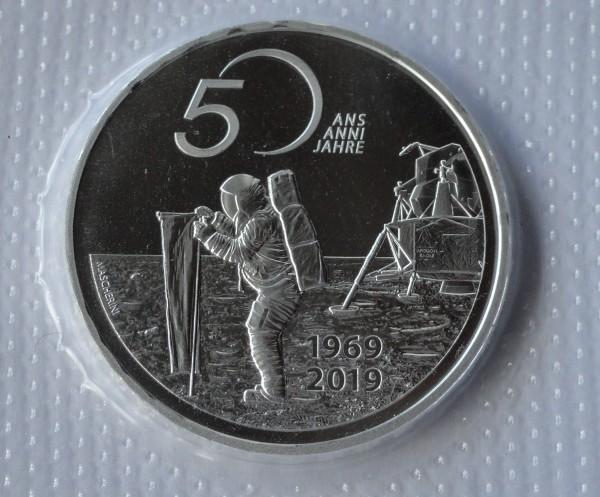 Schweiz 20 Franken Silber 50 Jahre Mondlandung 2019 Apollo 11 Stempelglanz