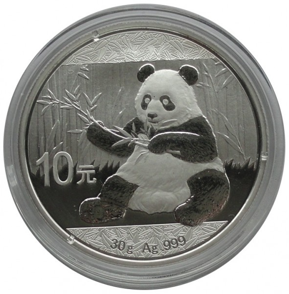 China 10 Yuan 30 gr 999/1000 Silber Panda 2017