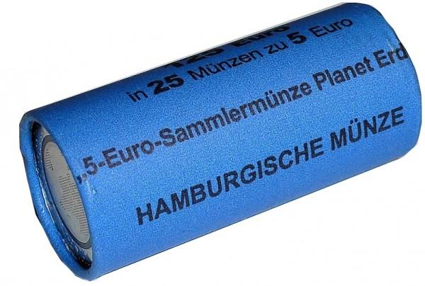 Brd 25 X 5 Euro Bimetall Blauer Planet Erde 2016 Münzrolle J 5