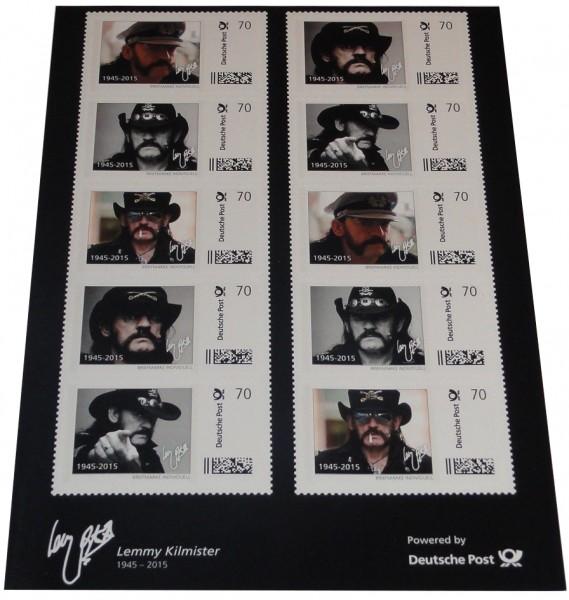 Lemmy Kilmister - Motörhead 10er Set Briefmarken a 70 Cent