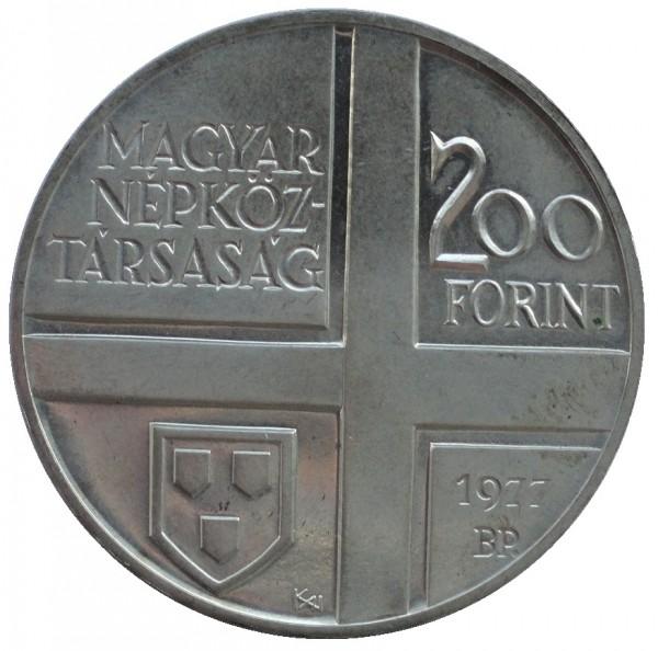Ungarn 200 Forint Silbermünze Stempelglanz