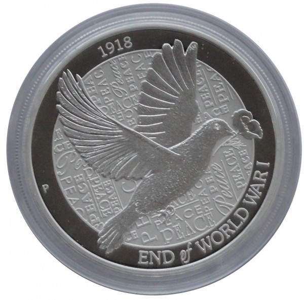 Australien 2 Oz Silber Piedfort Taube 2018 End of World War I