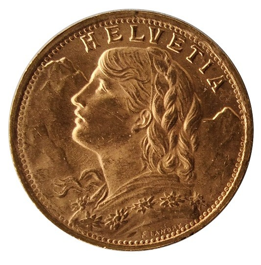 Goldvreneli 20 Franken Schweiz - Gold Anlagemünze