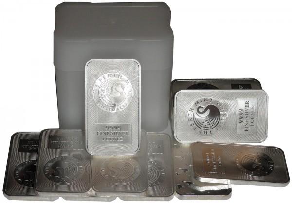 15 x 1 Oz Silberbarren Perth Mint Känguru in Plastiktube