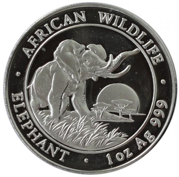 Somalia 100 Shillings 1 Oz Silber Somalia Elefant 2009