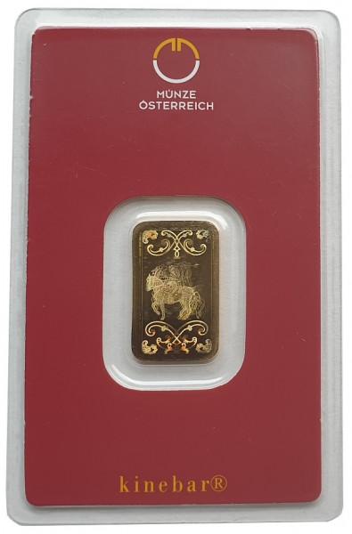 5 gr Goldbarren Kinebar Münze Österreich 999,9/1000 Feingold im Blister