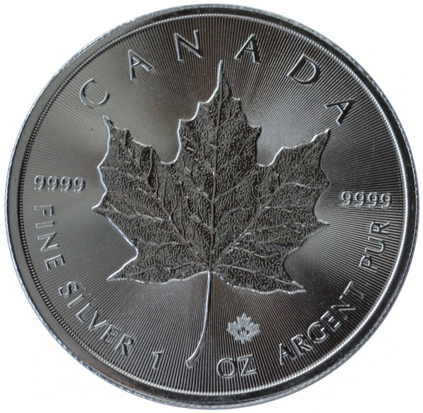 1 Oz Silber Maple Leaf 2019 Canada 5 Dollars Anlagemünze