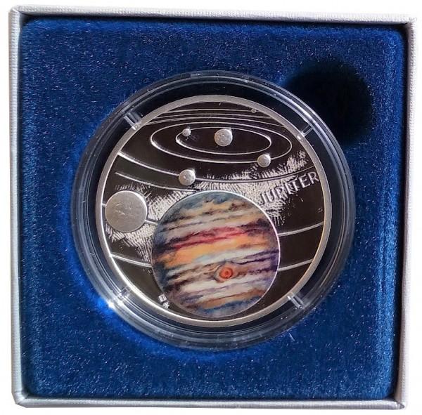 1 Oz Silber Jupiter Niue - Solar System 2020 Polierte Platte im Etui