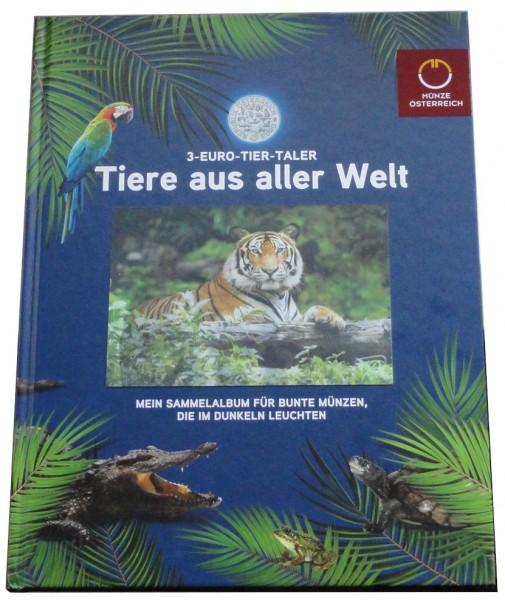 3 Euro Tier Taler Serie Österreich 10 Münzen im Sammelalbum