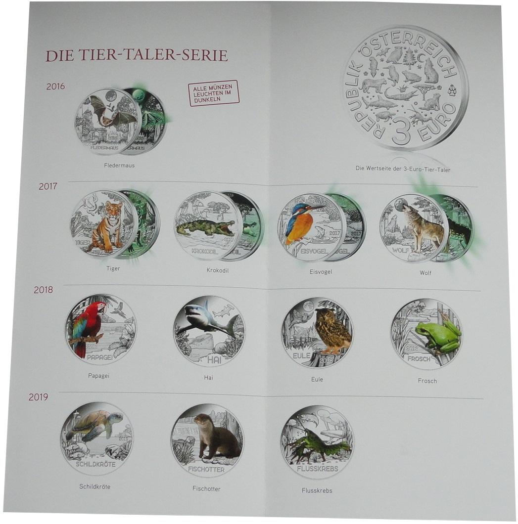 Osterreich-3-Euro-Tier-Taler-Serie