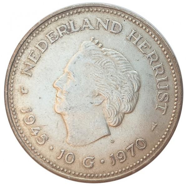Niederlande 10 Gulden Silber Königin Juliana 25 gr 720/1000 Silber