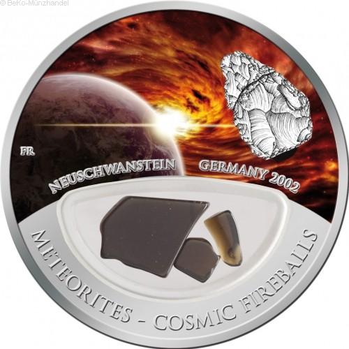Fiji 10 Dollars Silbermünze Meteorit – Neuschwanstein 2012
