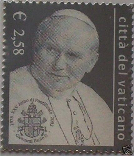 2,58 € Silber Briefmarke Vatikan 2003 Papst Johannes Paul II