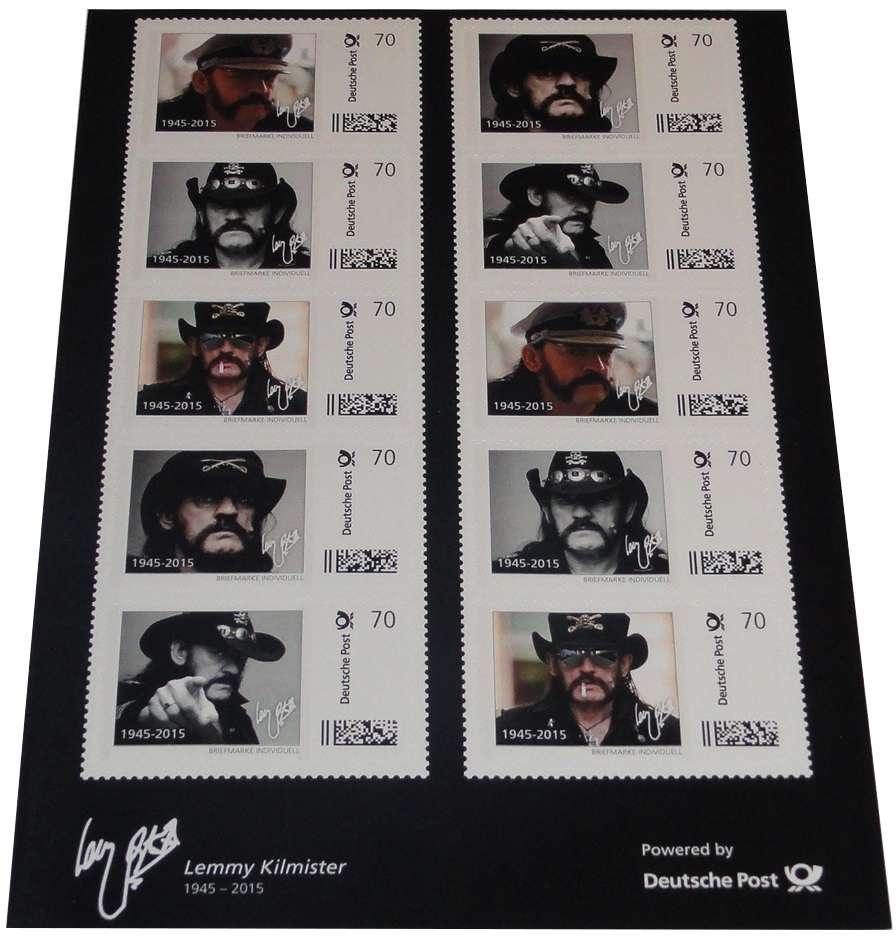 Lemmy Kilmister Motörhead 10er Set Briefmarken a 70 Cent