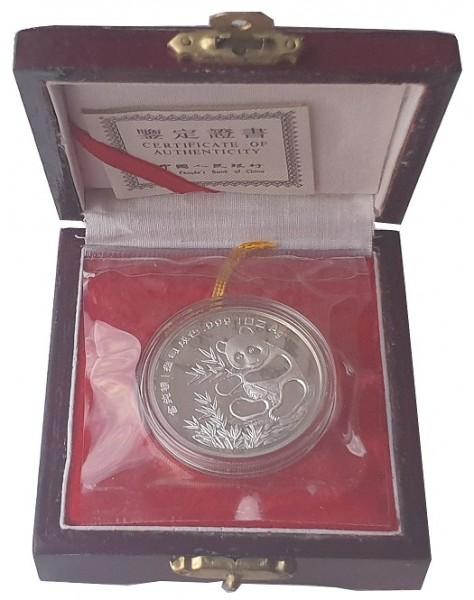 China 1 Oz Silber Panda Internationale Coinshow München 1993 Polierte Platte