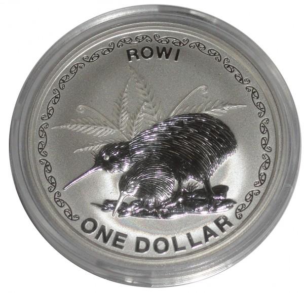 Neuseeland 1 Oz Silber Kiwi 2005 St Münzkapsel