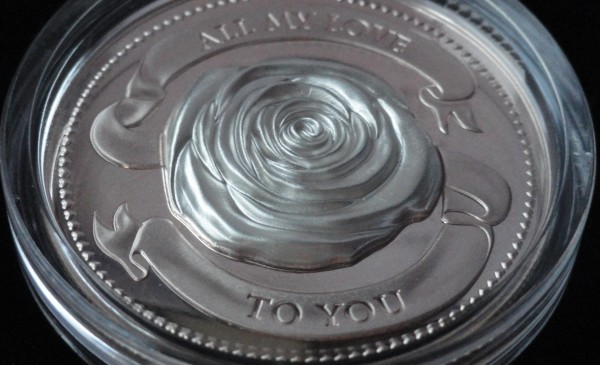 1 Oz Silber All my Love Rose Silber Polierte Platte 2019 Salomonen 2 Dollars Silbermünze