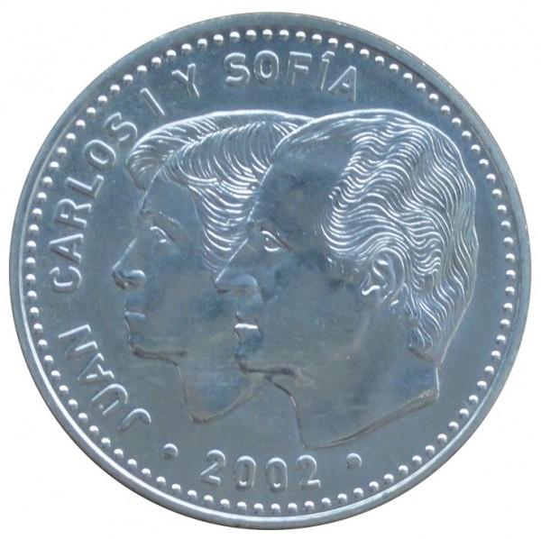 Spanien 12 Euro Silber Münze EU Präsidentschaft Spaniens 2002
