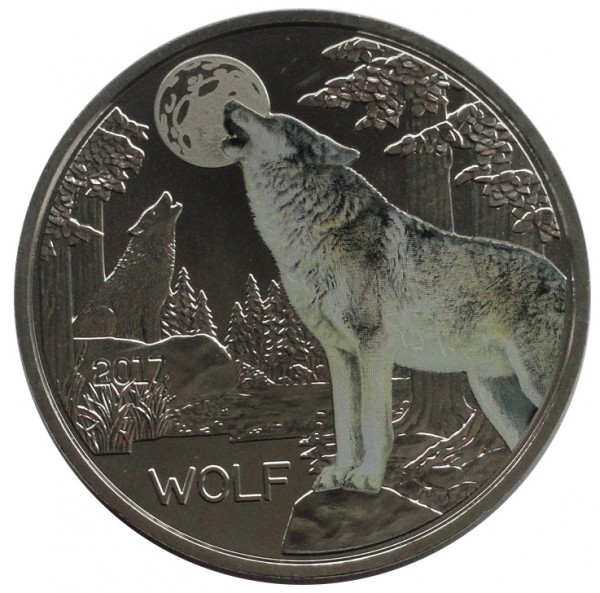 Österreich 3 Euro Tier Taler Wolf 2017 mit Flyer