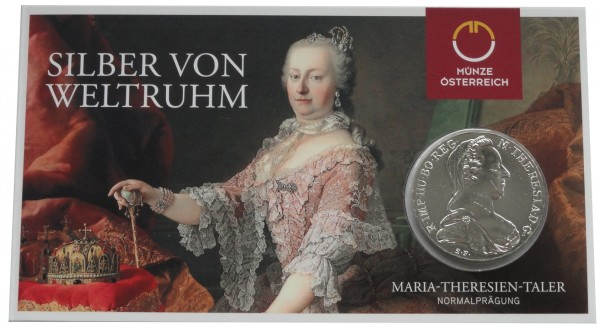 Österreich Maria Theresia Taler Silber 1780 NP im Blister