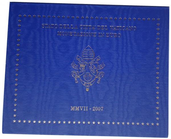 Vatikan 3,88 Euro 2007 Stgl. KMS Papst Benedikt XVI. im Folder