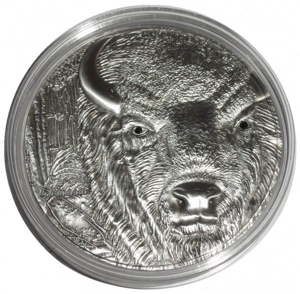 Togo 1500 Francs 2 Oz Silber Bison ( Wisent ) 2012 Antik - Finish Münzkapsel + Zertifikat