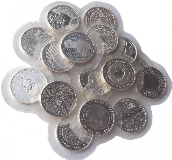 10 Euro Silber Gedenkmünzen Deutschland ( 2002 - 2010 ) 18 gr 925/1000 Silber in Folie