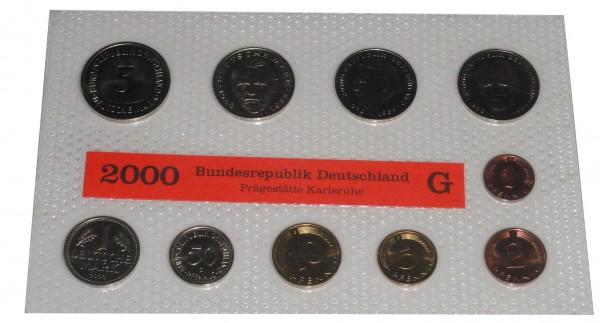 BRD 12,68 DM Kursmünzensatz 2000 im Blister