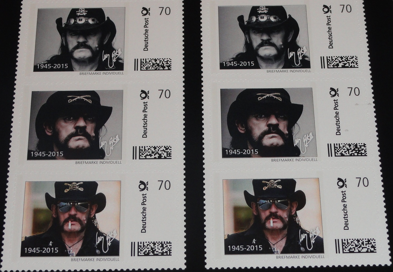 lemmy kilmister mot rhead 10er set briefmarken a 70 cent. Black Bedroom Furniture Sets. Home Design Ideas