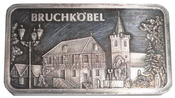 1 Oz Silberbarren Heraeus Edelmetalle Hanau. Motivbarren: Stadt Bruchköbel