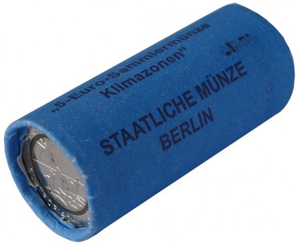 BRD: 25 x 5 Euro Bimetall Subtropische Zone 2018 Münzrolle A