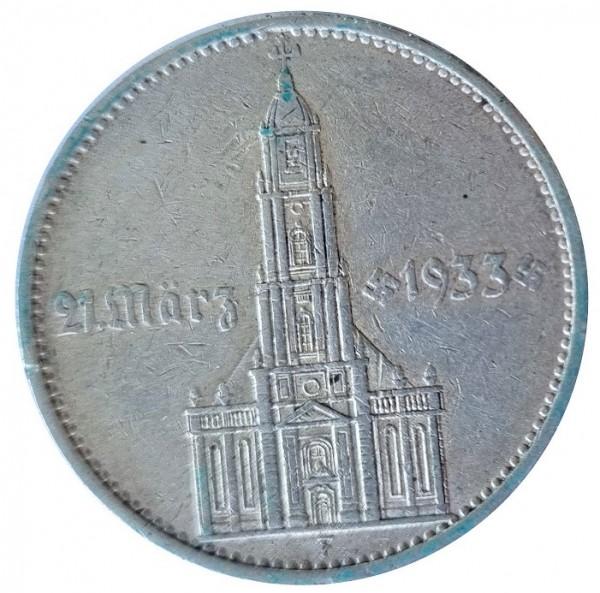 Deutsches Reich 5 Reichsmark Silber Garnisonkirche mit Datum