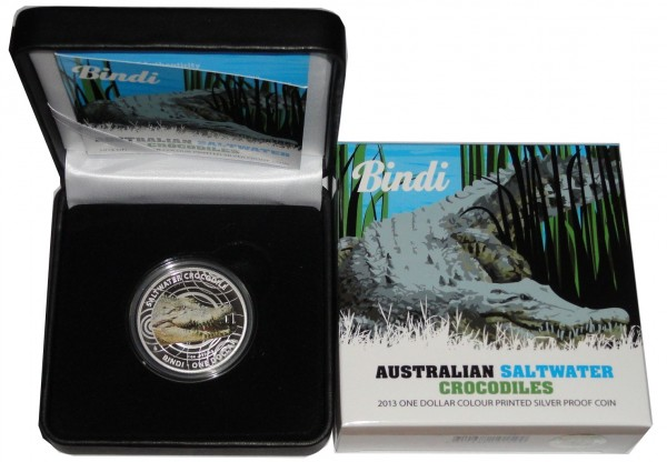 Australien 1 Oz Silber Salzwasser - Krokodil Bindi 2013 PP
